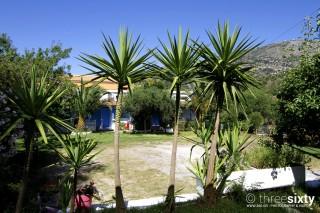 facilities blue white house garden