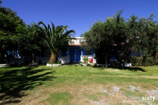 lefkada studios blue white house